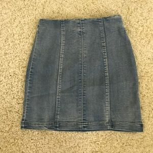 Dresses & Skirts - Light blue denim stretchy mini S